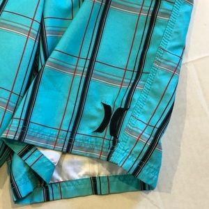 Hurley Swim - HURLEY board shorts blue plaid